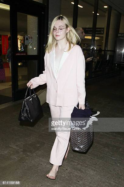 Elle Fanning is seen at LAX on October 11 2016 in Los Angeles California