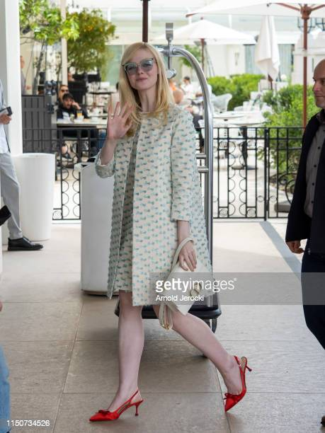 Elle Fanning is seen at the Martinez hotel during the 72nd annual Cannes Film Festival on May 21 2019 in Cannes France