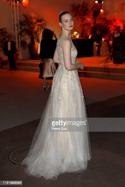 Elle Fanning is seen at the Palais des Festivals during the 72nd annual Cannes Film Festival at on May 25 2019 in Cannes France