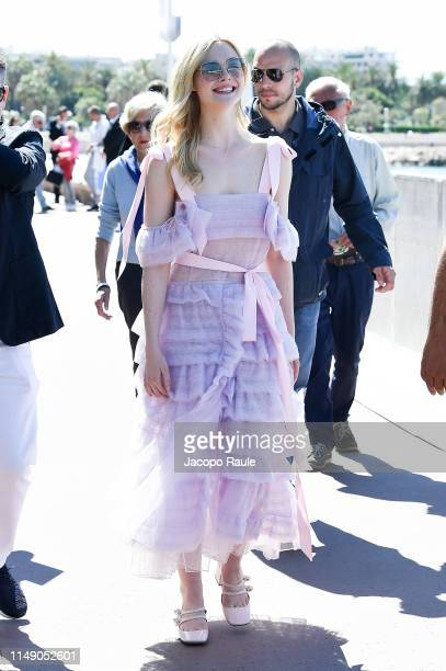 Elle Fanning is seen during the 72nd annual Cannes Film Festival at on May 14 2019 in Cannes France