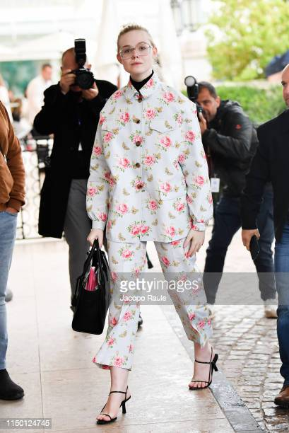 Elle Fanning is seen during the 72nd annual Cannes Film Festival at on May 18 2019 in Cannes France