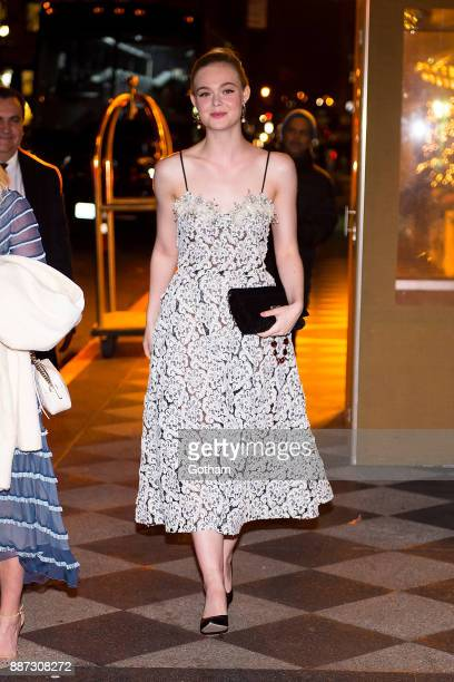 Elle Fanning is seen in Midtown on December 6 2017 in New York City