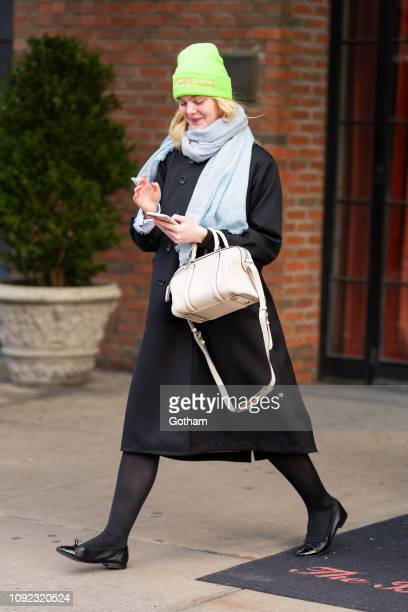 Elle Fanning is seen in the East Village on January 10 2019 in New York City