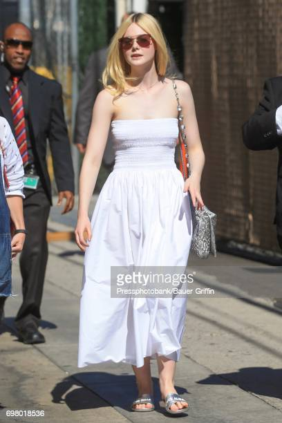 Elle Fanning is seen on June 19 2017 in Los Angeles California