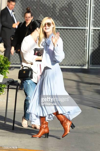 Elle Fanning is seen on March 4 2020 in Los Angeles California