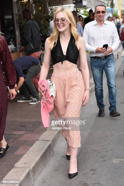 Elle Fanning is spotted during the 70th annual Cannes Film Festival at on May 18 2017 in Cannes France