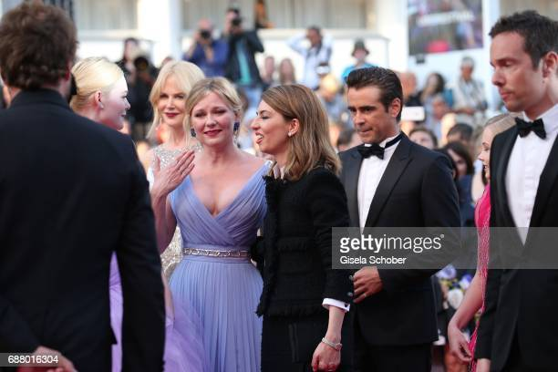 Elle Fanning Kirsten Dunst cries Sofia Coppola and Colin Farrell attend the 'The Beguiled' screening during the 70th annual Cannes Film Festival at...