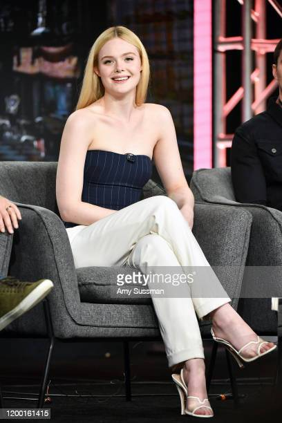 Elle Fanning of The Great speaks during the Hulu segment of the 2020 Winter TCA Press Tour at The Langham Huntington Pasadena on January 17 2020 in...