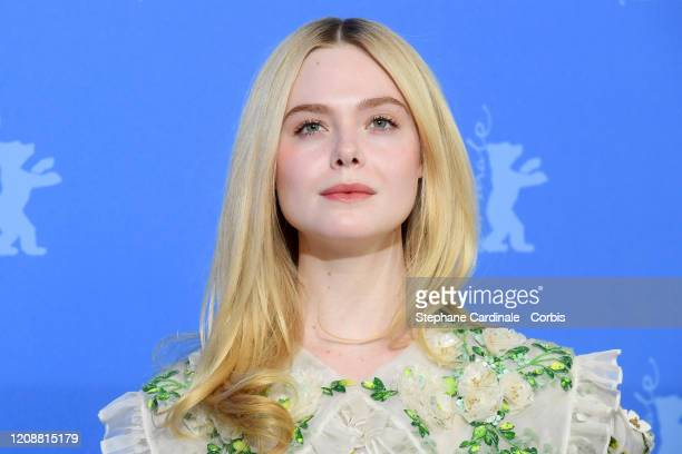 """Elle Fanning poses at the """"The Roads Not Taken"""" photo call during the 70th Berlinale International Film Festival Berlin at Grand Hyatt Hotel on..."""