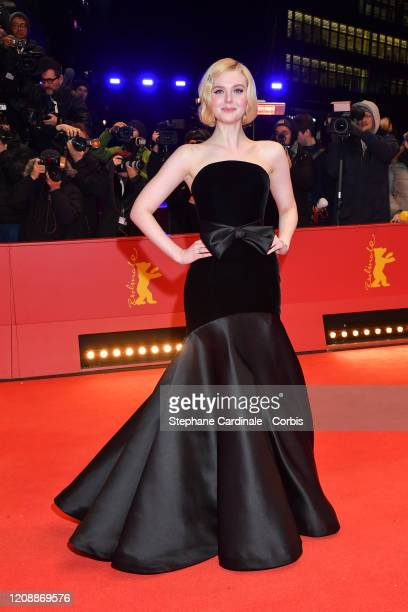 """Elle Fanning poses at the """"The Roads Not Taken"""" premiere during the 70th Berlinale International Film Festival Berlin at Berlinale Palace on February..."""