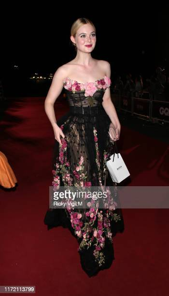 Elle Fanning seen leaving GQ Men of the Year Awards held at Tate Modern on September 03 2019 in London England
