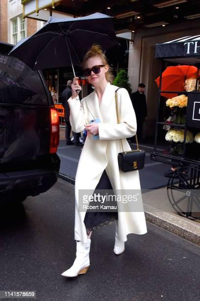 Elle Fanning seen out and about in Manhattan on May 5, 2019 in New York City.