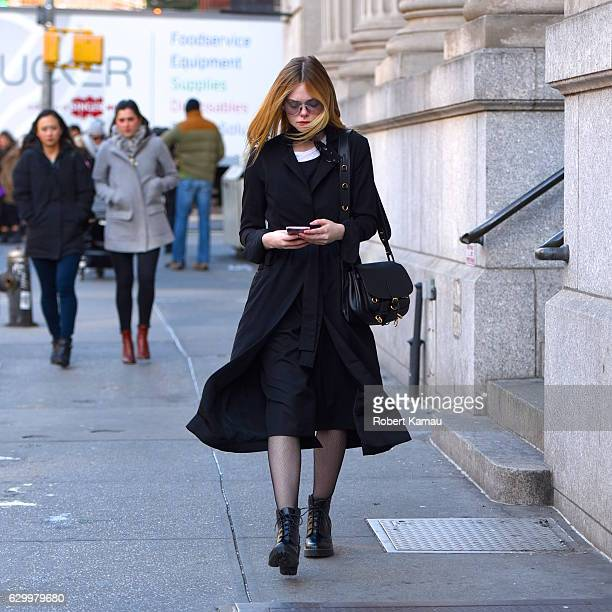 Elle Fanning seen out in SoHo on December 15 2016 in New York City