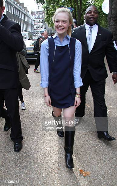 Elle Fanning sighting at London Fashion Week on September 16 2012 in London England