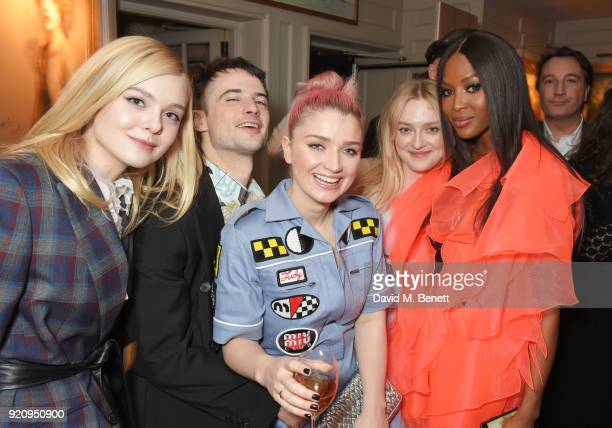Elle Fanning Tom Sturridge Eve Hewson Dakota Fanning and Naomi Campbell attend the LOVE x Miu Miu Women's Tales dinner hosted by Katie Grand and Elle...