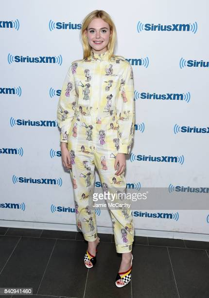 Elle Fanning visits SiriusXM at the SiriusXM Studios on August 30 2017 in New York City