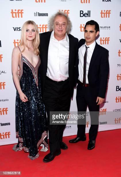 Elle Fanning Zlatko Buric and Max Minghella attend the Teen Spirit premiere during 2018 Toronto International Film Festival at Ryerson Theatre on...