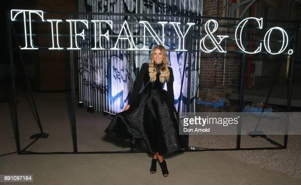 Elle Ferguson arrives ahead of the Tiffany Co HardWear Collection Launch on June 1 2017 in Sydney Australia