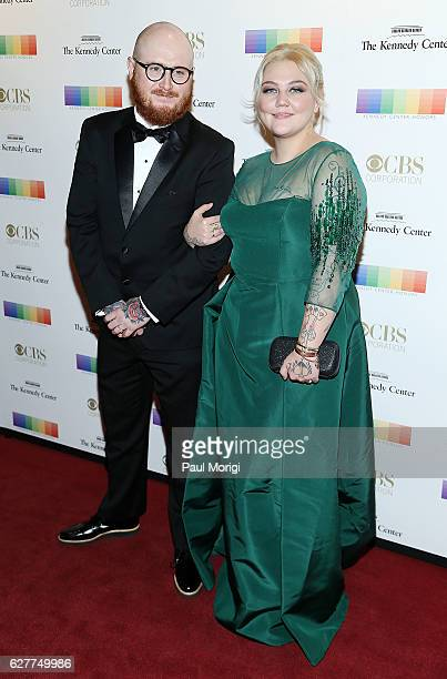 Elle King and Andrew Ferguson arrive at the 39th Annual Kennedy Center Honors at The Kennedy Center on December 4 2016 in Washington DC