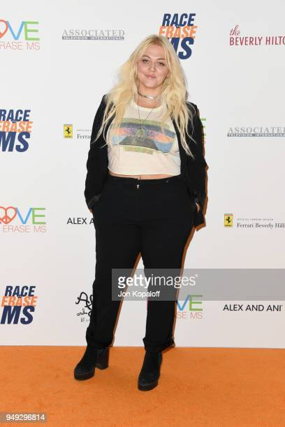 Elle King attends the 25th Annual Race To Erase MS Gala at The Beverly Hilton Hotel on April 20 2018 in Beverly Hills California