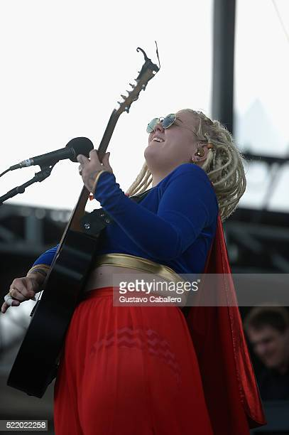 Elle King is onstage during Tortuga Music Festival on April 17 2016 in Fort Lauderdale Florida