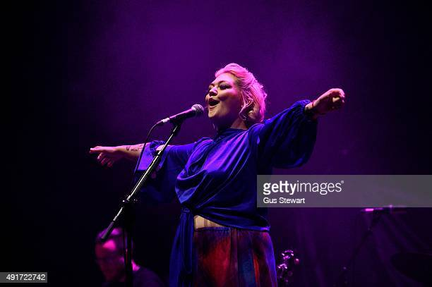 Elle King performs on stage at the O2 Academy Brixton on September 30 2015 in London England