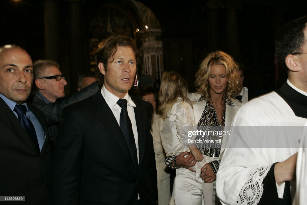 Elle Macpherson and Arpad Busson in Rome for the Baptism of their Son Aurelius
