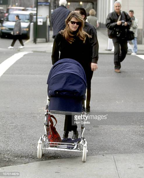 Elle Macpherson and Arpad Flynn Busson during Elle Macpherson and Arpad Flynn Busson Sighting on Madison Avenue in New York City March 2 1998 at...