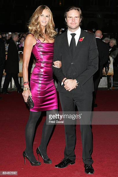 Elle Macpherson and brother Ben attends the Royal Premiere of Quantum of Solace at the Odeon Leicester Square on October 29, 2008 in London, England.