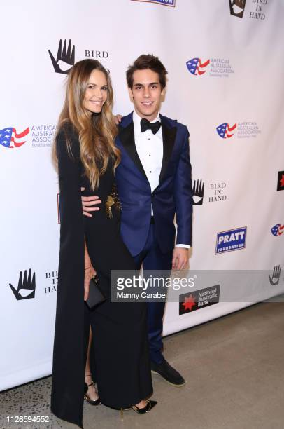 Elle Macpherson and Flynn Busson attend the 2019 American Australian Arts Awards at Skylight Modern on January 31, 2019 in New York City.