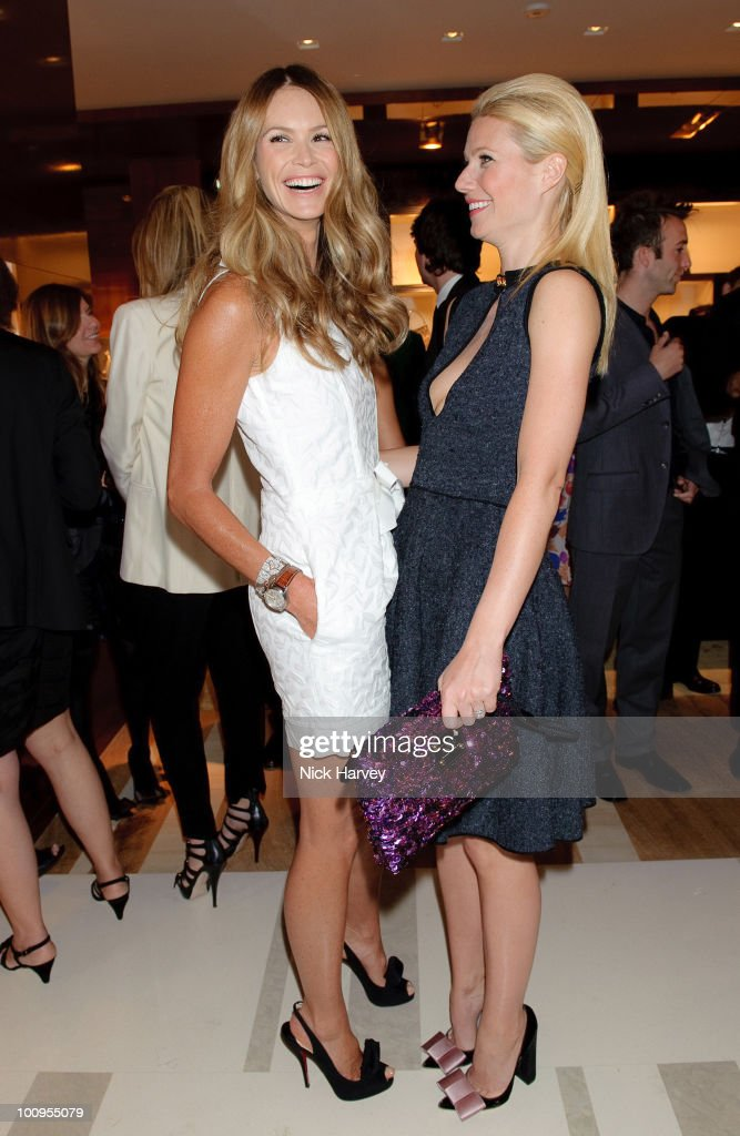 Elle MacPherson (L) and Gwyneth Paltrow attend the launch of the Louis Vuitton Bond Street Maison on May 25, 2010 in London, England.