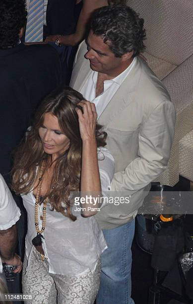Elle Macpherson and Jeffrey Soffer arrive at Timbalands album Shock Value II at LIV nightclub at Fontainebleau Miami on December 5 2009 in Miami...