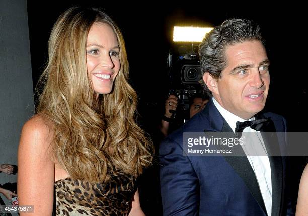 Elle Macpherson and Jeffrey Soffer attend Perez Art Museum Miami PAMM Premiere Gala at PAMM Art Museum on December 7 2013 in Miami Florida