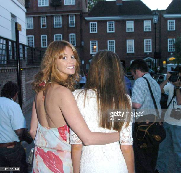 Elle MacPherson and Jemima Khan during David Frost Summer Party Arrivals at Carlisle Square in London Great Britain