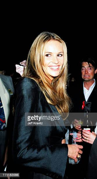 Elle MacPherson and Kyle MacLachlan during 1994 MTV Movie Awards at Sony Studios in Culver City California United States