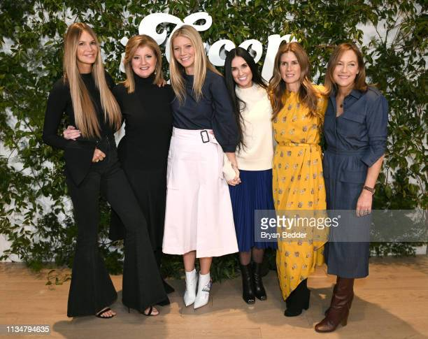 Elle Macpherson Arianna Huffington Gwyneth Paltrow Demi Moore Gucci Westman and Gregg Renfrew attend the In goop Health Summit New York 2019 at...