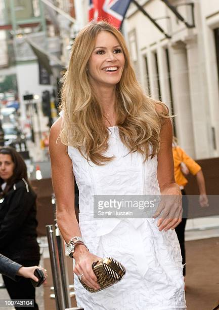 Elle Macpherson arrives at the Louis Vuitton Bond Street Maison launch on New Bond Street on May 25, 2010 in London, England.