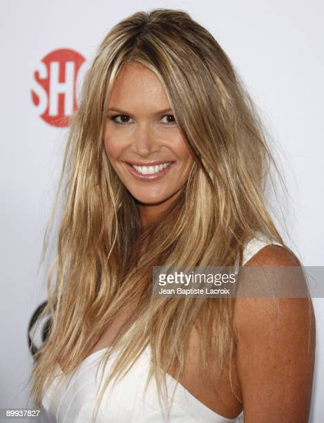 Elle Macpherson arrives at the NBC and Universal's 2009 TCA Press Tour AllStar Party at the Huntington Library on August 3 2009 in Pasadena California