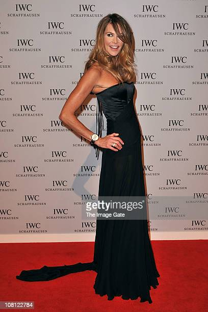 Elle Macpherson arrives at the Private Dinner Reception during the IWC launch of the Portofino watch range at the SIHH International Fine Watch...