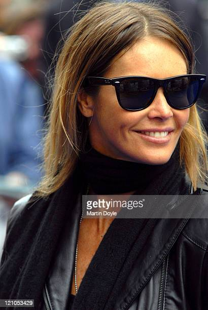 Elle Macpherson arrives at the UK film premiere of 'Ratatouille' at the Odeon Leicester Square on September 30 2007 in London England