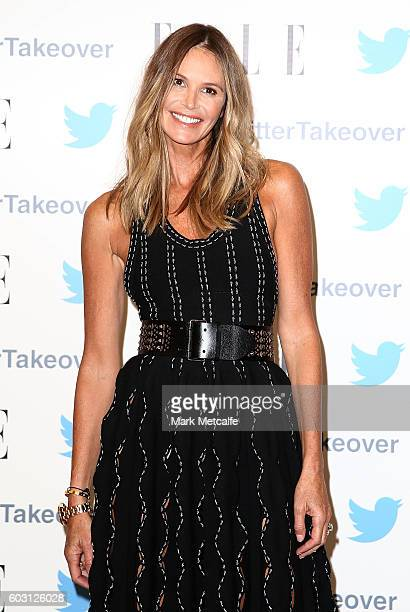 Elle Macpherson arrives at TwitterAU HQ on September 12 2016 in Sydney Australia