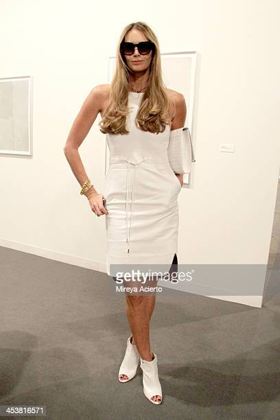 Elle Macpherson attends Art Basel Miami Beach 2013 at the Miami Beach Convention Center on December 5 2013 in Miami Beach Florida