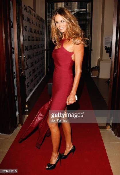 Elle Macpherson attends the GQ Men of the Year Awards held at the Royal Opera House Covent Garden on September 2 2008 in London England