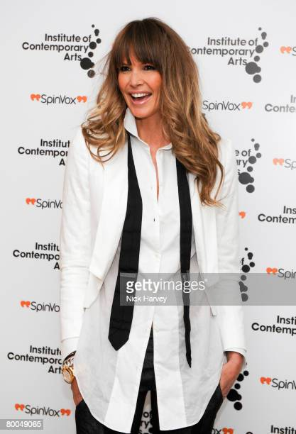 Elle Macpherson attends the Institute of Contemporary Arts Annual Fundraising Gala Figures of Speech on February 27 2008 in London England