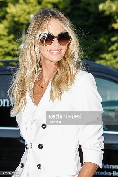 Elle Macpherson attends the Marc Cain Arrivals at MercedesBenz Fashion Week Berlin Spring/Summer 2016 on July 7 2015 in Berlin Germany