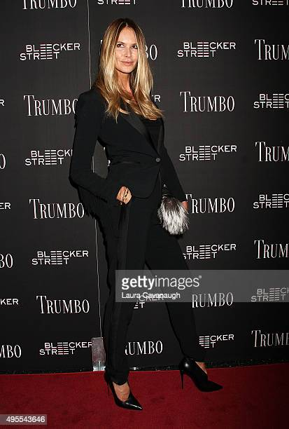 Elle Macpherson attends the 'Trumbo' New York premiere at MoMA Titus Two on November 3 2015 in New York City