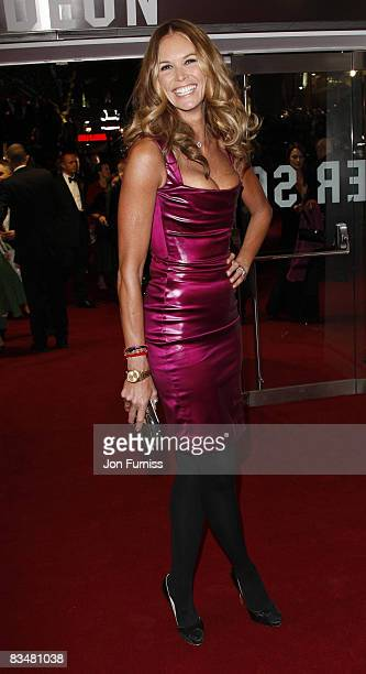 Elle Macpherson attends the world premiere of 'Quantum of Solace' at Odeon Leicester Square on October 29, 2008 in London, England.