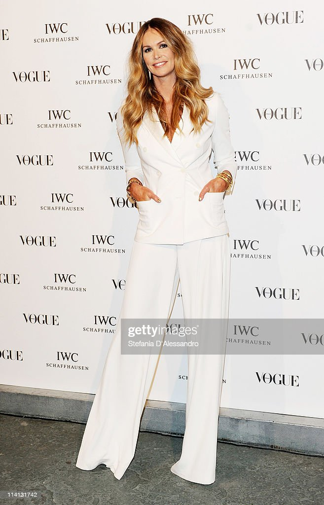 Elle MacPherson attends Vogue and IWC present 'Peter Lindbergh's Portofino' at 10 Corso Como on May 12, 2011 in Milan, Italy.