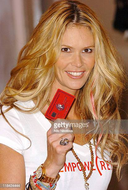 Elle MacPherson during American Express RED Credit Card Launch with Elle MacPherson at Harvey Nichols in London Great Britain