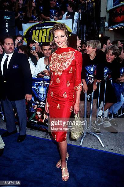 Elle Macpherson during Batman Robin Los Angeles Premiere at Mann's Bruin Theater in Westwood California United States